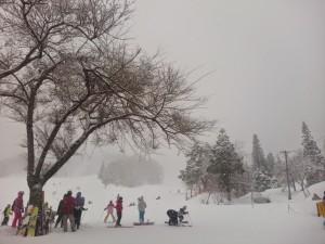 吹雪の揖斐高原スキー場