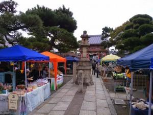 葛井寺の参道