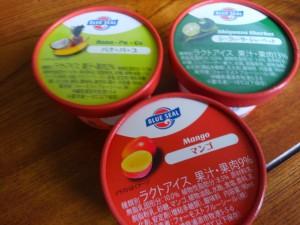 blue sealのマンゴ、シークワーサー、パナ・パ・コ