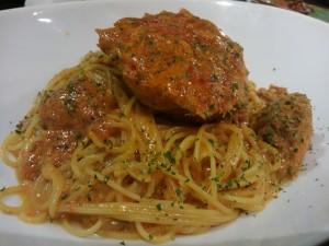 クリガニのトマトクリームソース