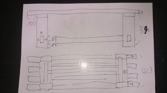 ベンチの設計図