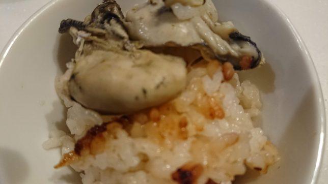 牡蠣ご飯のおこげ