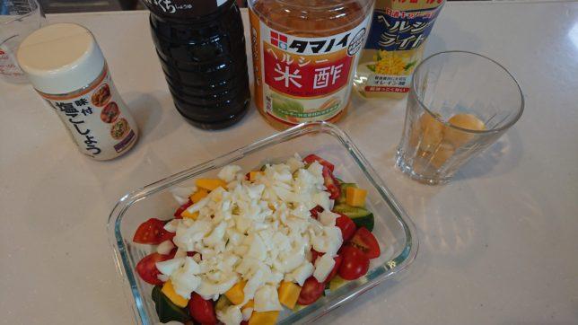 夏野菜のマリネの材料
